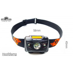 Hoofdlamp LED + mini LED zaklamp | incl. batterijen | KMHL012