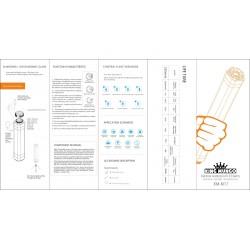 Zaklamp LED Campinglamp Veiligheidslamp - Oplaadbare Vis Lamp - Waterdicht - Powerbank - KM-M17