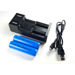 18650 Batterij Oplaadbaar +...