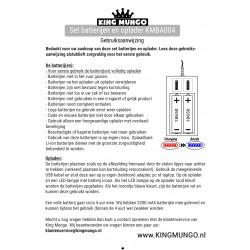 18650 Batterij Oplaadbaar + oplader | 3200 mAh 3.7v | 2 stuks | KMBA004