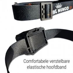 Hoofdlamp LED breedstraler | incl. batterijen | zwart | KMHL013