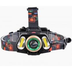 LED Hoofdlamp | 3-dubbele koplamp | USB oplaadbaar incl 3200 mAh 18650 batterijen