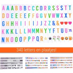 340 Stuks Lightbox Letters, Symbolen en Emoticons set | A3, A4 of A5 light box | King Mungo