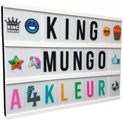 Lightbox A4 Kleur + 340 light box letters en symbolen | met batterijen & USB | King Mungo