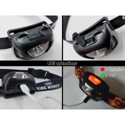 Hoofdlamp LED Oplaadbaar Waterdicht | Bewegingssensor | USB Oplaadbare | KMHL014