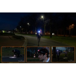 Oplaadbare LED Hoofdlamp Groen met Bewegingssensor Ingebouwde 1200mah accu en Waterafstotend