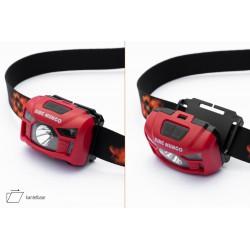 Oplaadbare LED Hoofdlamp Rood met Bewegingssensor Ingebouwde 1200mah accu en Waterafstotend