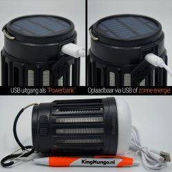 Anti Muggenlamp LED Camping Lamp | Thuis Muggen Vanger Lamp Oplaadbaar