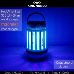 Anti Muggenlamp LED Camping Lamp | USB Oplaadbaar Insectenlamp UV Solar Wit