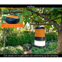 Anti Muggenlamp LED Camping Lamp | 3in1 Thuis Muggenvanger Zaklamp Muggenlamp voor binnen Oplaadbaar | Oranje