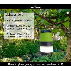 Anti Muggenlamp LED Camping Lamp | 3in1 Thuis Muggenvanger Zaklamp Muggenlamp voor binnen Oplaadbaar | Groen