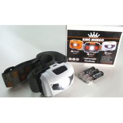 Hoofdlamp wit met felle LED + 2x rode LED - Incl. Batterijen - 160 lumen - waterafstotend en comfortabele hoofdband