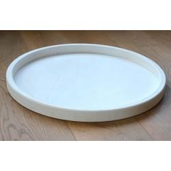 Houten Dienblad rond wit - Ø 50cm - Zeer stijlvol en landelijk karakter – King Mungo Wood Design