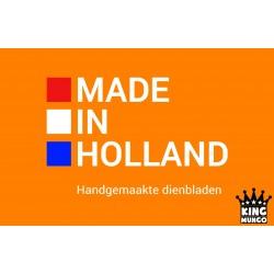 Houten Dienblad rond wit - Ø 40cm - Zeer stijlvol en landelijk karakter – King Mungo Wood Design