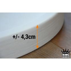 Houten Dienblad rond wit - Ø 30cm - Zeer stijlvol en landelijk karakter – King Mungo Wood Design