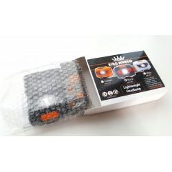 Hoofdlamp LED, set van 2 stuks in zwart en wit – altijd handen vrij met 2 hoofdlampen inclusief batterijen
