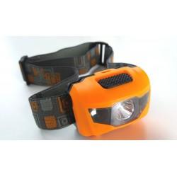 Hoofdlamp LED set van 2 stuks - Zwart en Oranje - 2 hoofdlampen inclusief batterijen - 160 lumen