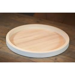 Houten Dienblad rond blank - Ø 50cm - Zeer stijlvol en landelijk karakter – King Mungo Wood Design