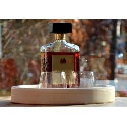 Houten Dienblad rond blank - Ø 30cm - Zeer stijlvol en landelijk karakter – King Mungo Wood Design