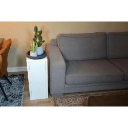 Houten Dienblad rond donkergrijs - Ø 30cm - Zeer stijlvol en landelijk karakter – King Mungo Wood Design