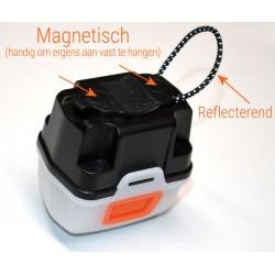 Hoofdlamp LED + Lantaarn Box - wit en rode LED - 160 lumen - multifunctioneel waterdicht kampeerlicht - gratis 3xAAA batterij