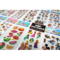 50 Vellen - 3D Foam Stickers voor Kinderen Meisjes - Prinses Frozen Disney Princess - KMST007