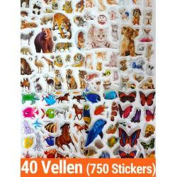 Stickers 40 Vellen Dieren |...